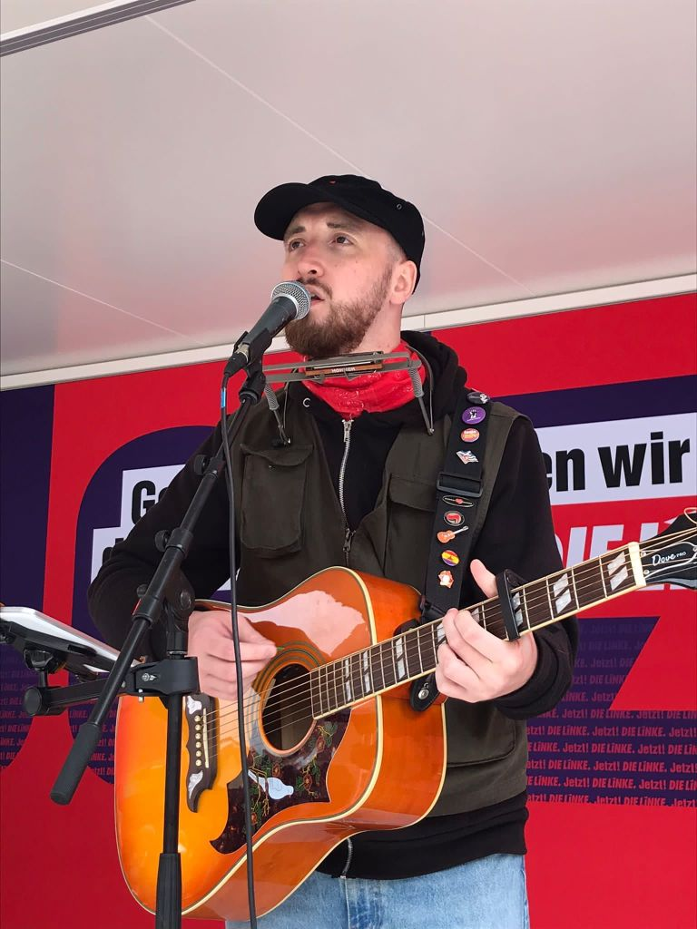 Live in Rostock while on tour in Germany, August 2021.